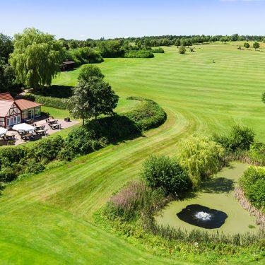 Golfclub Rittergut Rothenberger Haus von oben